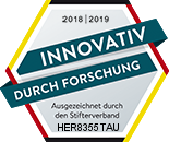 "Stifterverband - Siegel ""INNOVATIV DURCH FORSCHUNG"""
